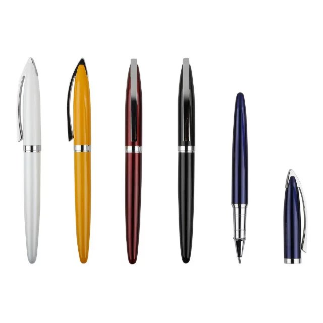 Metal Promotional Pens With Rubber Grip Support Custom Company Logo yiwu pen